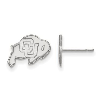 Picture of University of Colorado Buffaloes Sterling Silver Extra Small Post Earrings
