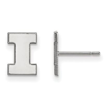 Picture of University of Illinois Fighting Illini Sterling Silver Extra Small Post Earrings