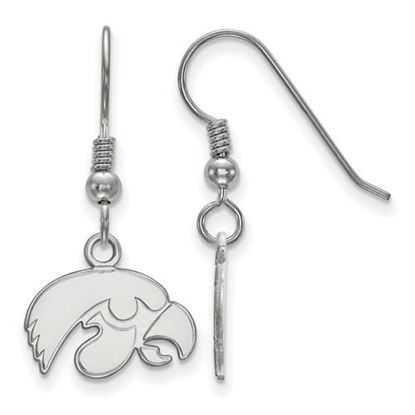 Picture of University of Iowa Hawkeyes Sterling Silver Extra Small Dangle Earrings