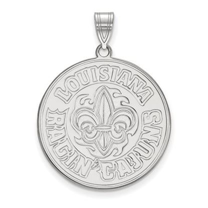 Picture of University of Louisiana at Lafayette Ragin' Cajuns Sterling Silver Extra Large Pendant