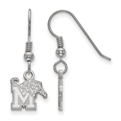 Picture of University of Memphis Tigers Sterling Silver Extra Small Dangle Earrings