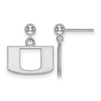Picture of University of Miami Hurricanes Sterling Silver Dangle Earrings