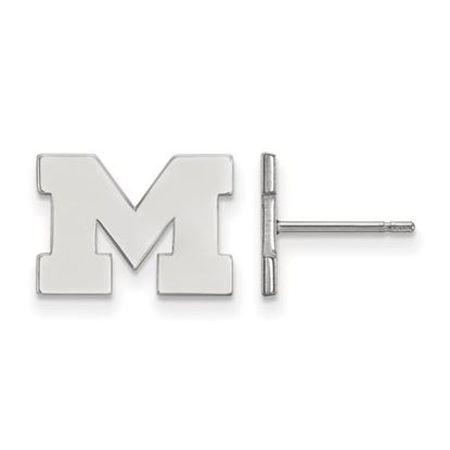 Picture of University of Michigan Wolverines Sterling Silver Extra Small Post Earrings