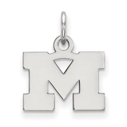 Picture of University of Michigan Wolverines Sterling Silver Extra Small Pendant