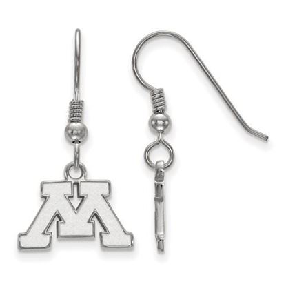 Picture of University of Minnesota Golden Gophers Sterling Silver Extra Small Dangle Earrings
