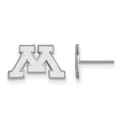 Picture of University of Minnesota Golden Gophers Sterling Silver Extra Small Post Earrings