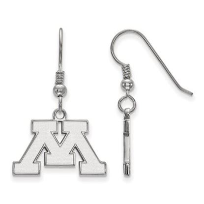 Picture of University of Minnesota Golden Gophers Sterling Silver Small Dangle Earrings