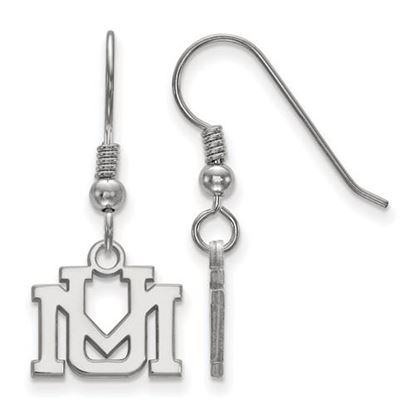 Picture of University of Montana Grizzlies Sterling Silver Extra Small Dangle Earrings