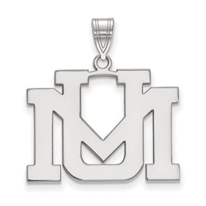 Picture of University of Montana Grizzlies Sterling Silver Large Pendant