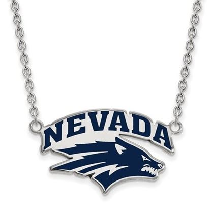 Picture of University of Nevada Wolfpack Sterling Silver Large Enameled Necklace