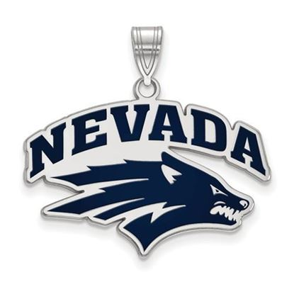 Picture of University of Nevada Wolfpack Sterling Silver Large Enameled Pendant