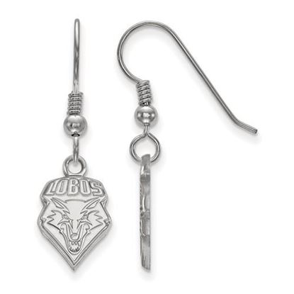 Picture of University of New Mexico Lobos Sterling Silver Small Dangle Earrings