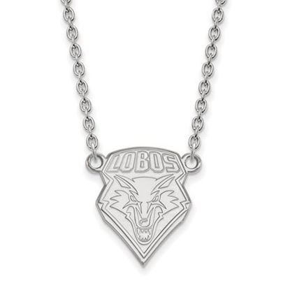 Picture of University of New Mexico Lobos Sterling Silver Large Necklace