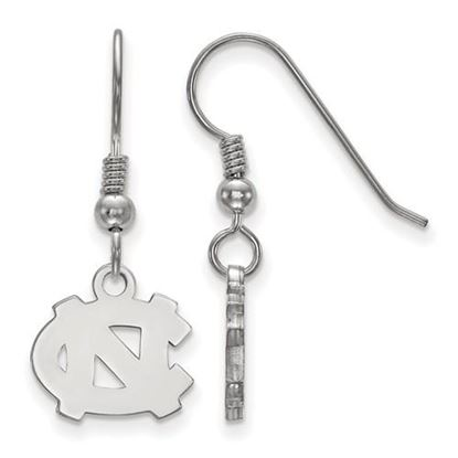 Picture of University of North Carolina Tar Heels Sterling Silver Extra Small Dangle Earrings