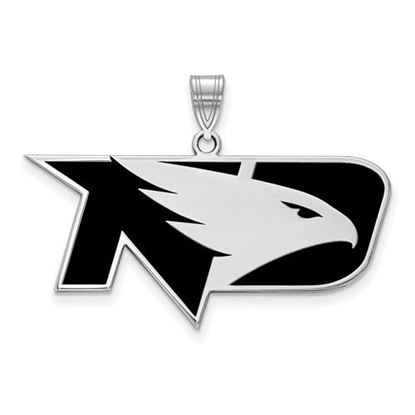 Picture of University of North Dakota Fighting Hawks Sterling Silver Large Enameled Pendant
