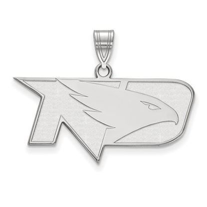 Picture of University of North Dakota Fighting Hawks Sterling Silver Medium Pendant