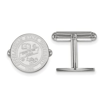 Picture of Appalachian State University Mountaineers Sterling Silver Crest Cuff Links