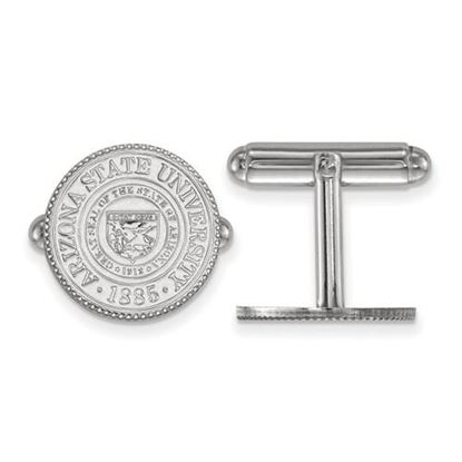 Picture of Arizona State University Sun Devils Sterling Silver Crest Cuff Links