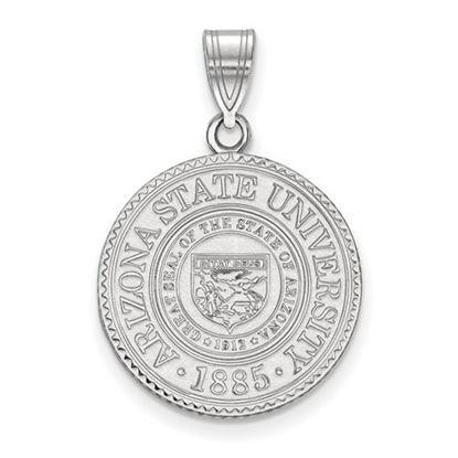 Picture of Arizona State University Sun Devils Sterling Silver Large Crest Pendant