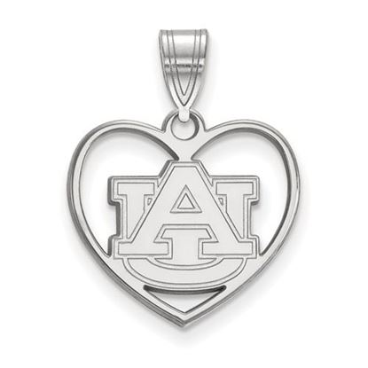 Picture of Auburn University Tigers Sterling Silver Heart Pendant