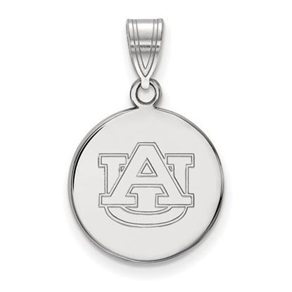 Picture of Auburn University Tigers Sterling Silver Medium Disc Pendant