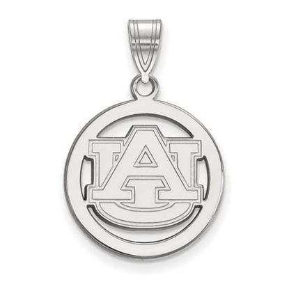 Picture of Auburn University Tigers Sterling Silver Small Circle Pendant