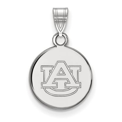 Picture of Auburn University Tigers Sterling Silver Small Disc Pendant