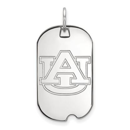 Picture of Auburn University Tigers Sterling Silver Small Dog Tag
