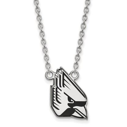 Picture of Ball State University Cardinals Sterling Silver Enameled Necklace