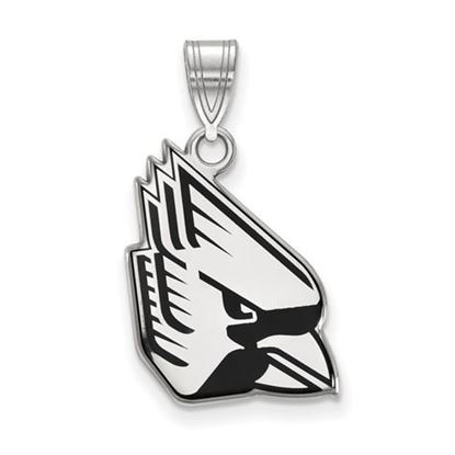 Picture of Ball State University Cardinals Sterling Silver Large Enameled Pendant
