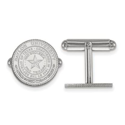 Picture of Baylor University Bears Sterling Silver Crest Cuff Links