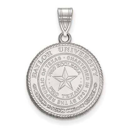 Picture of Baylor University Bears Sterling Silver Large Crest Pendant