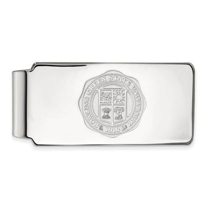 Picture of Bowling Green State University Falcons Sterling Silver Crest Money Clip
