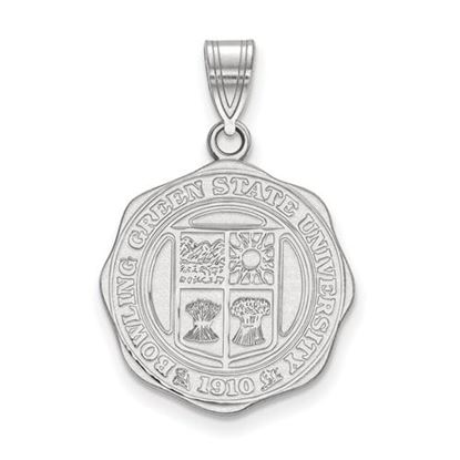 Picture of Bowling Green State University Falcons Sterling Silver Large Crest Pendant
