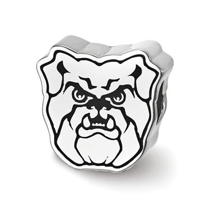 Picture of Butler University Bulldogs Sterling Silver Bulldog Head Enameled Bead