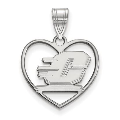 Picture of Central Michigan University Chippewas Sterling Silver Heart Pendant