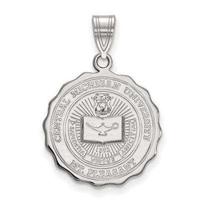 Picture of Central Michigan University Chippewas Sterling Silver Large Crest Pendant