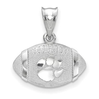 Picture of Clemson University Tigers Sterling Silver 3D Football w/Logo pendant