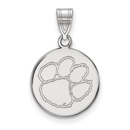 Picture of Clemson University Tigers Sterling Silver Medium Disc Pendant