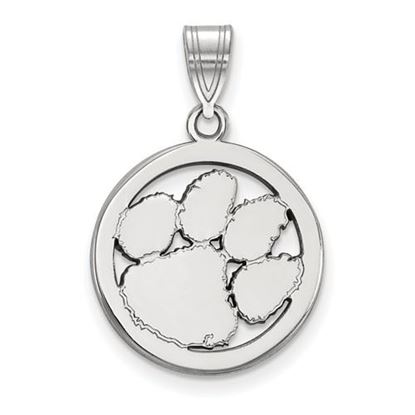 Picture of Clemson University Tigers Sterling Silver Small Circle Pendant