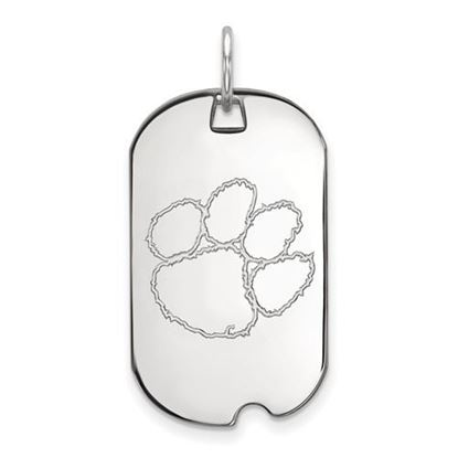 Picture of Clemson University Tigers Sterling Silver Small Dog Tag