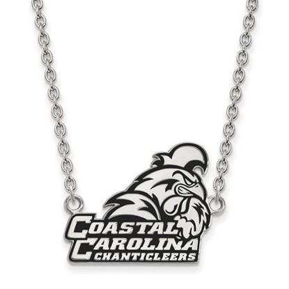 Picture of Coastal Carolina University Chanticleers Sterling Silver Large Enameled Necklace