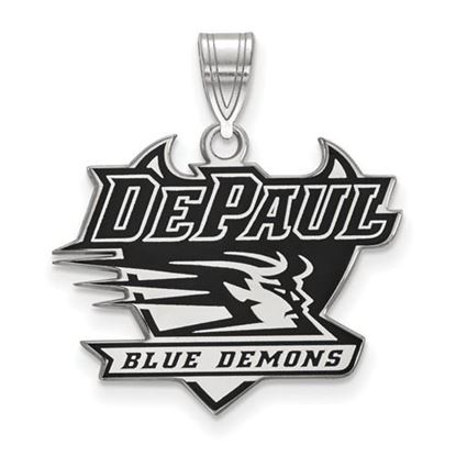 Picture of DePaul University Blue Demons Sterling Silver Enameled Large Pendant