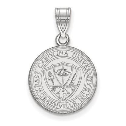 Picture of East Carolina University Pirates Sterling Silver Medium Crest Pendant