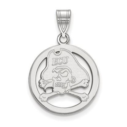 Picture of East Carolina University Pirates Sterling Silver Small Circle Pendant