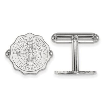 Picture of Eastern Kentucky University Pirates Sterling Silver Crest Cuff Links