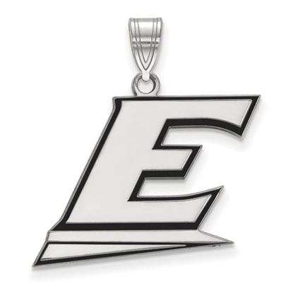 Picture of Eastern Kentucky University Pirates Sterling Silver Large Enameled Pendant
