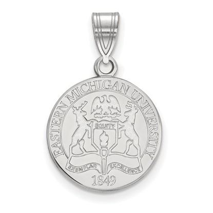 Picture of Eastern Michigan University Eagles Sterling Silver Medium Crest Pendant