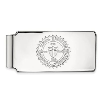 Picture of Florida A&M University Rattlers Sterling Silver Crest Money Clip