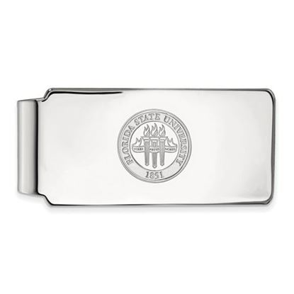 Picture of Florida State University Seminoles Sterling Silver Crest Money Clip